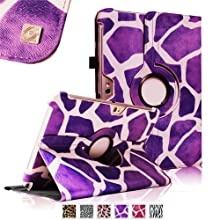 Fintie (Giraffe Purple) 360 Degrees Rotating Stand Case Cover For Samsung Galaxy Note 10.1 Inch Tablet N8000 N8010...