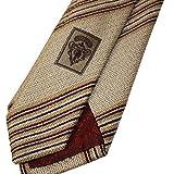"""Gucci Men's Stripe Woven Silk Tie, 2.75"""" (7 CM), Tan 336396"""