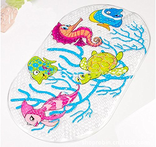 Cute Cartoon Carpet Non-slip Rug in Bedroom/livingroom Rectangular Door Mat for Home Decoration (sea horse)