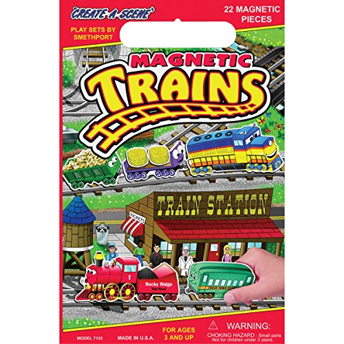 Magnetic Create-A-Scene Kit-Trains