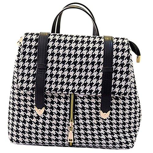 BEIER® New England Fashion Retro Suitcases plaid canvas shoulder bag 2015-SPRING25 (white)