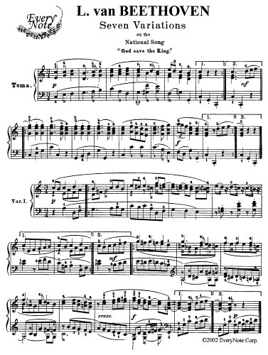 Beethoven 7 Variations on the National Song