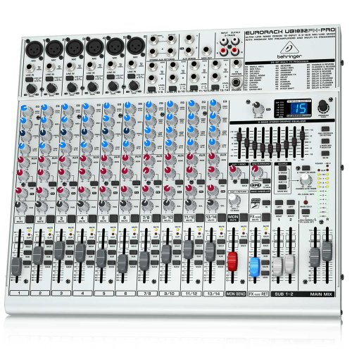 Behringer Ub1832Fx-Pro Eurorack Ultra-Low Noise 18-Input 3/2-Bus Mic/Line Mixer With Premium Mic Preamplifiers And Effects