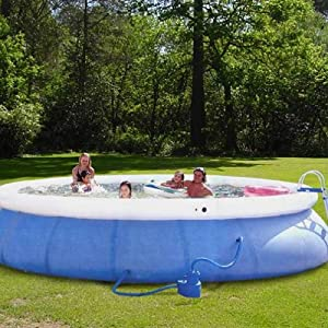 Round inflatable above ground swimming pool set for Inflatable above ground pools