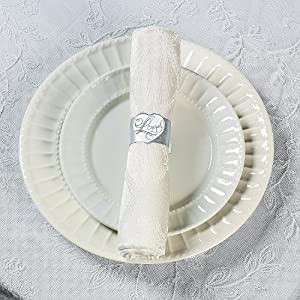 wedding paper napkin rings 4 dozen
