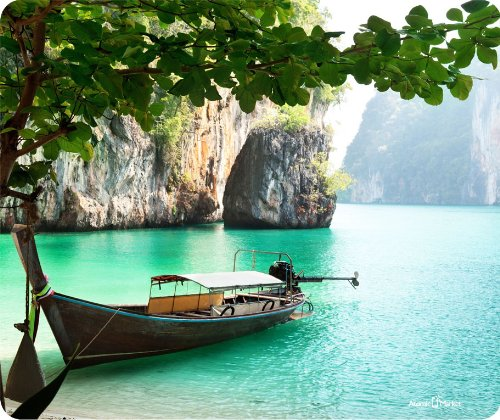 Thailand Boat Thick Mouse Pad
