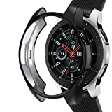 Case Compatible Samsung Galaxy Watch 46mm, NaHai TPU Slim Plated Case Shock-Proof Cover All-Around Protective Bumper Shell for Galaxy Watch 46mm SM-R800 Smartwatch, Black (Color: Black, Tamaño: (46mm) SM-R800)