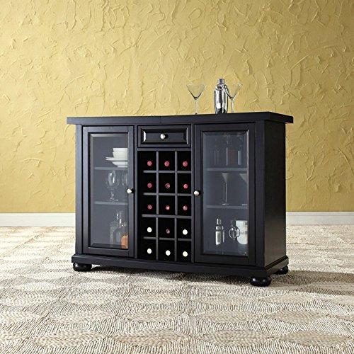 Crosley Alexandria Sliding Top Bar Cabinet, Black (Crosley Wine Cabinet compare prices)