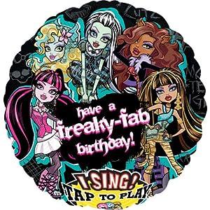 "Monster High Freaky Fab Birthday Sing-A-Tune 28"" Mylar Foil Balloon"