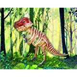 Tyrannosaurus - Illuminated 3D Jigsaw Woodcraft Kit Wooden Puzzle ~ Puzzled Inc.