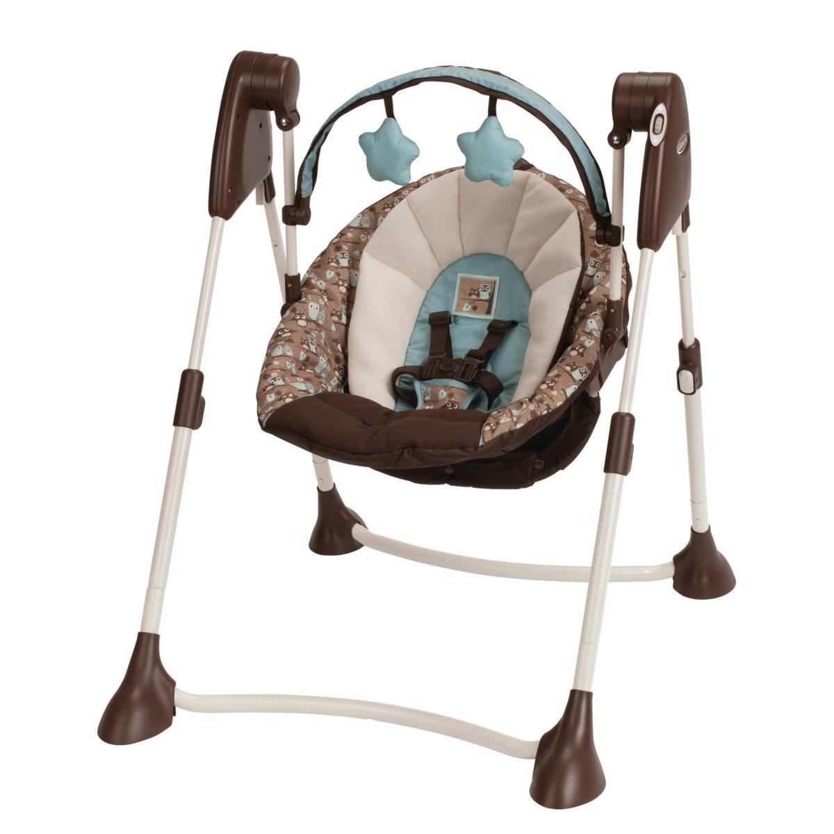 Graco Swing By Me Portable 2-in-1 Baby Swing Little Hoot