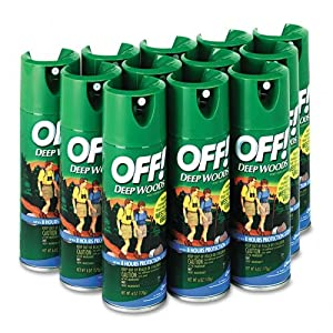 OFF CB018425CT Deep Woods Off!, 6-oz. Aerosol Can, 12 Cans/Carton