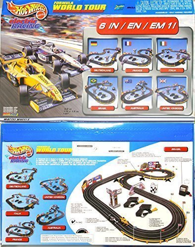 Hot Wheels 37647 Formula Word Tour HO Slot Car Electric Racing Set