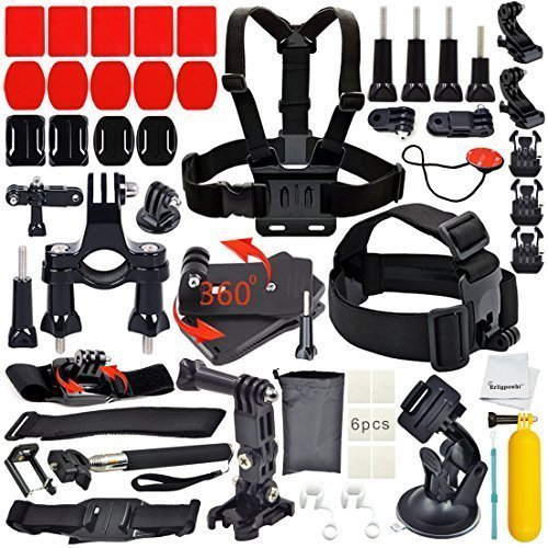 Erligpowht Kit di accessori ultimo unico locale Kit 36 accessori per gopro hero 4/3 + / 3/2/1