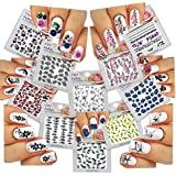 Nail Art Water Slide Tattoo Stickers Decals & X2665; Dolphins & X2665; Butterflies & X2665; Flowers & X2665; 10...