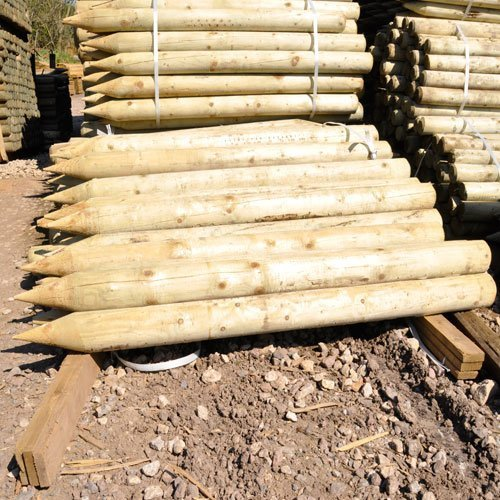 5-x-18-6ft-tall-x-100mm-4inch-dia-very-strong-scandinavian-pressure-treated-wooden-fence-posts-fenci