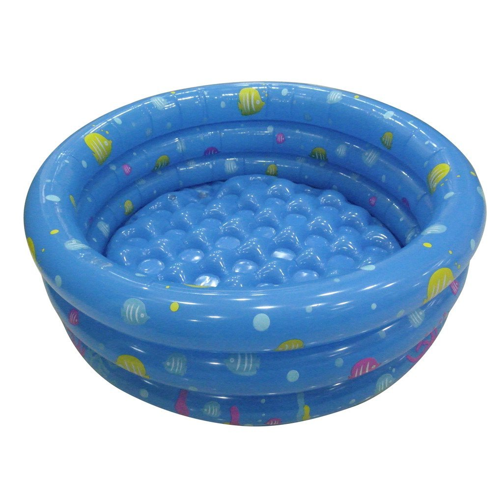 TrendBox Sky Blue 80cm Inflatable Round Swimming Pool Ball Pit For Baby Children Kids Outdoor Indoor Activities Garden Parties Ice Cooler (Ship From USA)