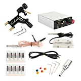 TANssential Dragonfly Rotary Tattoo Machine, Liner and Shader, Motor Gun Tattoo Kit Supplies with Needles, for Professional Tattoo Artists and Beginners, Light Weight (Black) (Color: Black)