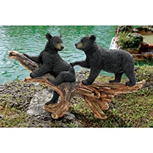 Design Toscano KY69774 Mischievous Bear Cubs Sculpture