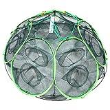 STARDUST 釣り用 大漁捕穫 隠し球 十二手網 改 海 蟹 海老 道具 カニ エビ 魚 網 フィッシング SD-AMI003-12