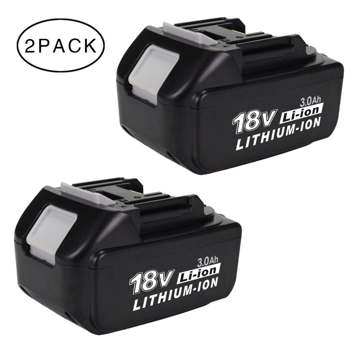 gerit 2packs 18v 3ah lithium ion replacement battery for makita cordless drill ebay. Black Bedroom Furniture Sets. Home Design Ideas