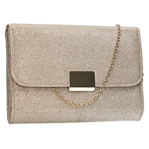 Kors Sparkling Flapover Smart Elegant Ladies Clutch Evening Bag