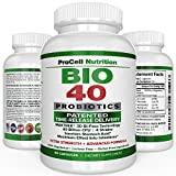 BIO-40 : Probiotic Supplements for Men Women & Kids - 60 Time Release Capsules - 40 Billion CFU Multi Strains with Prebiotic and Acidophilus - Natural Nutritional Digestive Care - BioScience Nutrition