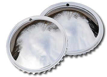 aus verchromten Metall Radzierblendenset . Oldtimer 15 Zoll Moon Caps f/ür PKW 4 St/ück