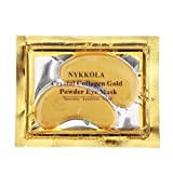 10 Pairs New Crystal 24K Gold Powder Gel Collagen Eye Mask Masks Sheet Patch, Anti Aging,Dark Circles and Puffiness, Anti Wrinkle, Moisturising,Whitening, Remove Blemishes and Blackheads by NYKKOLA (Color: 10Pair Eye Masks, Tamaño: 10 Pairs)