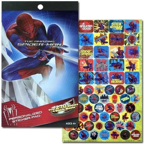 Spiderman 4 Sticker Pad with Over 270 Stickers