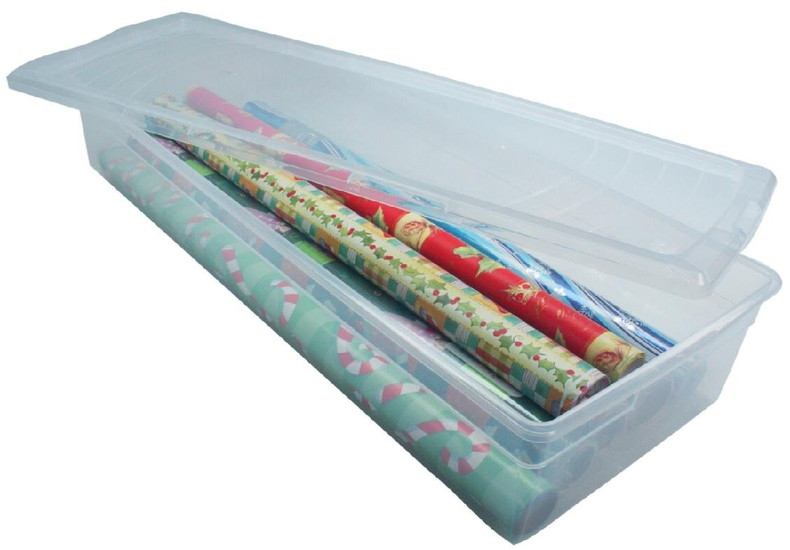 40 inch vertical plastic storage container for gift wrap elhouz