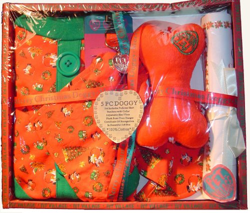 Pet Village Christmas Doggy Clothes 5-Piece Boxed Gift Set