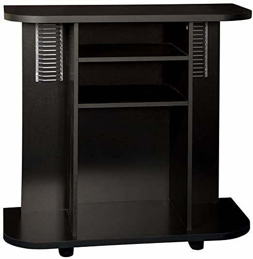 Home Source Industries TIF0024 TV Cart with Assorted Storage Solutions, Black
