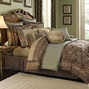 Croscill Home Fashions Marcella Comforter Set, King, Taupe, Floral