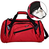 SIYUAN Large Sports Gym Bag Mens Womens Water Resistant Athletic Duffel Bag with Adjustable Strap,Red,Large (Color: C# red, Tamaño: Large)