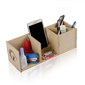 Alfa img showing wood desktop organizer stand - Lifta desk organizer ...