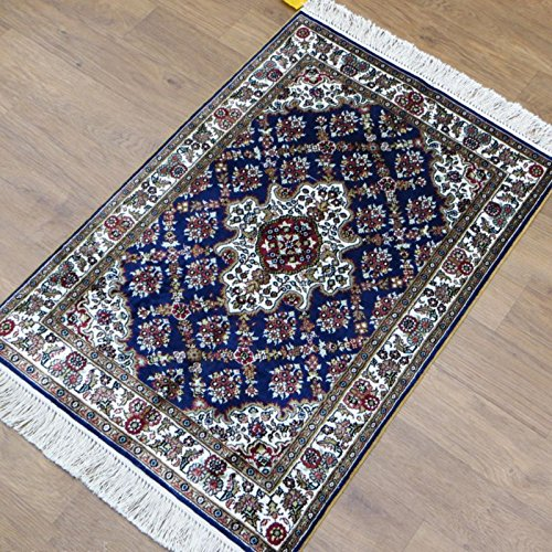 2'x3' Small Sample Hand Made Hand Knotted Oriental Silk Area Carpet Persian Rug
