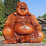 Super schöner 50 cm BUDDHA Happy HOLZ BUDDA FENG SHUI Bali Buda BH50