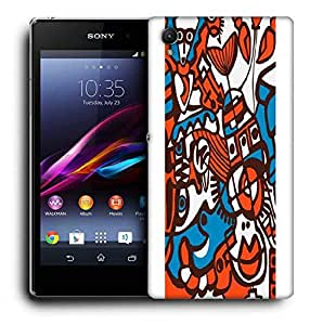 Snoogg Orange Abstract Orange Printed Protective Phone Back Case Cover For Sony Xperia Z1