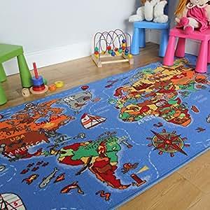 tapis pour enfant pays du monde 95x200cm. Black Bedroom Furniture Sets. Home Design Ideas