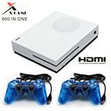 CHUANGXINYOUPIN Classical Game Console , Built-in 600 Retro Games Family Console with 2Pcs Joystick for Kids Children Gift (White) (Color: White)