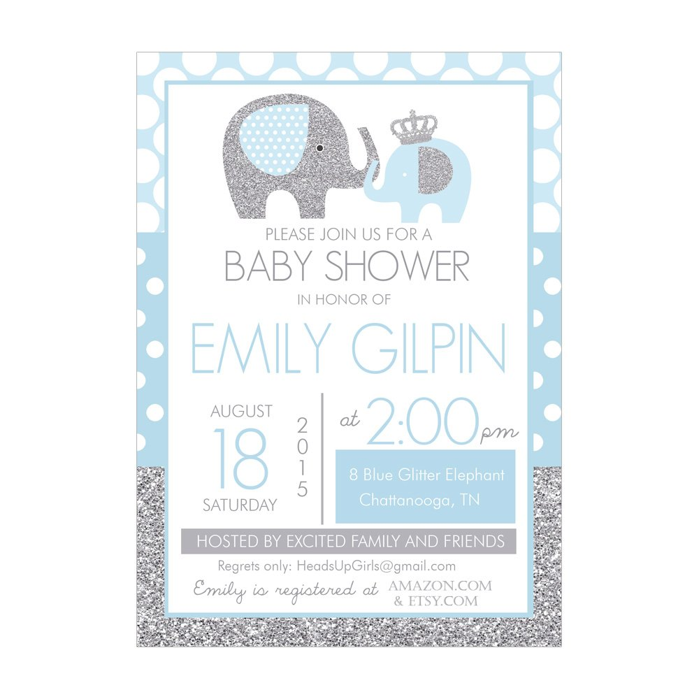 boy elephant baby shower invitations baby shower mania
