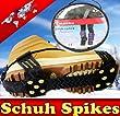 Schuh Spikes Schuhketten Gleitschutz Gr. M 36-42 10 Spikes