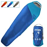 WINNER OUTFITTERS Mummy Sleeping Bag with Compression Sack, It's Portable and Lightweight for 3-4 Season Camping, Hiking, Traveling, Backpacking and Outdoor Activities(Royal Blue (Color: Royal Blue/Sky Blue(35F), Tamaño: 32