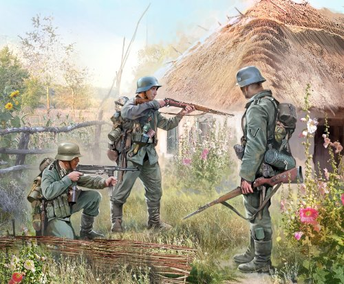 Zvezda Models 1/72 German Infantry Eastern Front 1941 (Snap Kit)