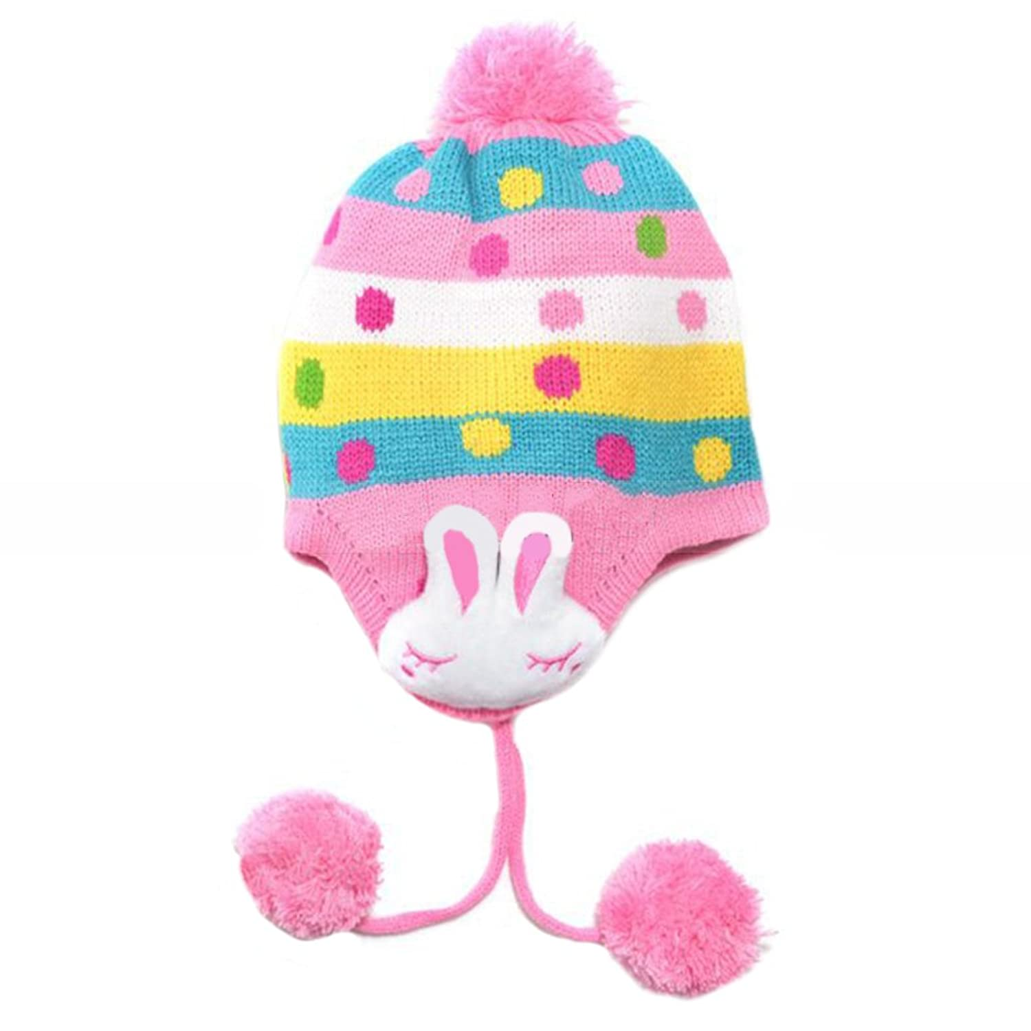 CoolBiz Baby's Knitted Winter Hat winter flanging letter knitted hat