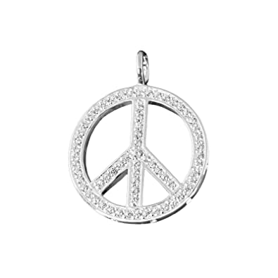 Thomas Sabo Special Addition Peace Pendant with Eyelet Silver with White Zirconia PE448 Silver - 14