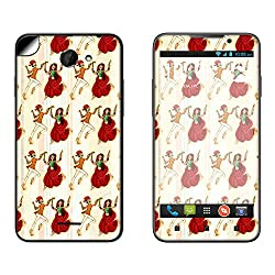 Skintice Designer Mobile Skin Sticker for HTC 516, Design - Garba