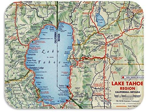Lake Tahoe Road Chart 1956 TV Tray 17