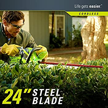 Greenworks 24-Inch 40V Cordless Hedge Trimmer, 2.0 AH Battery Included 22262